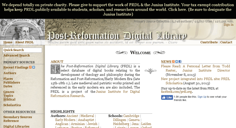 Post-Reformation Digital Library